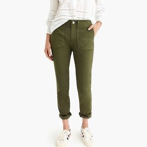 J. Crew Vintage Straight Cargo Pant in Green